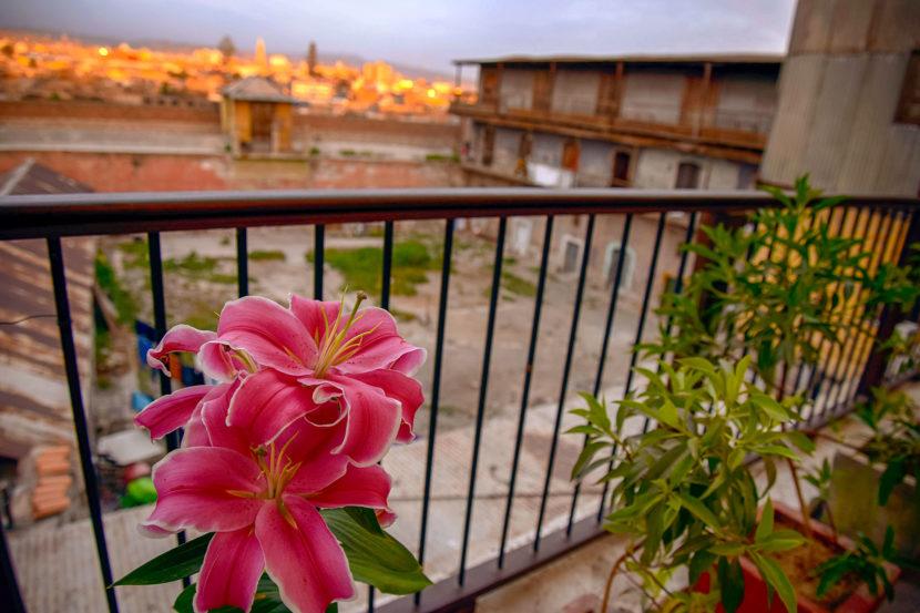Vista de la terraza Acolpacha Hotel